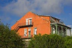 Старый дом в Новом Орлеане Стоковое Фото