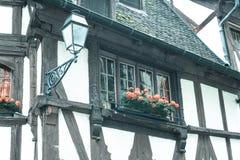 Старый дом в районе Франции Ла Петит на страсбурге Стоковая Фотография RF