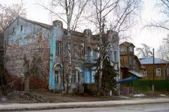 Старый дом в Kimry Стоковые Фотографии RF