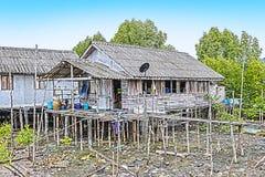 старый дом сделанный древесиной сосны стоковое изображение
