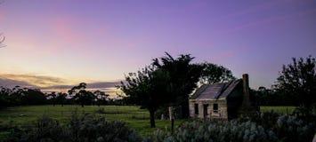 Старый дом фермы в порте Альберте, Vic, Австралии Стоковое Изображение RF