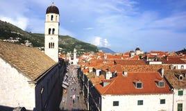 Старый Дубровник сверху Стоковая Фотография