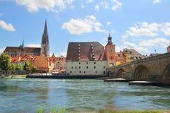 Старый европейский городок стоковое изображение