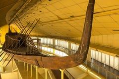 Старый египетский камбуз Старые корабли в музее стоковое фото