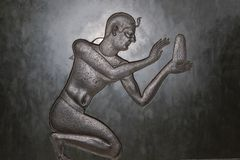 Старый египетский символ стоковая фотография