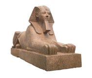 Старый египетский сфинкс изолированный на белизне Стоковое Изображение RF