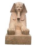 Старый египетский сфинкс изолированный на белизне Стоковое фото RF