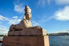 Старый египетский сфинкс, St Петербург, Россия Стоковое Фото