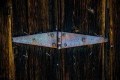 Старый деревенский конец-вверх шарнира Стоковое фото RF