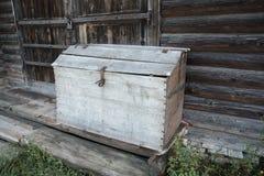 Старый деревянный амбар для муки Стоковое фото RF