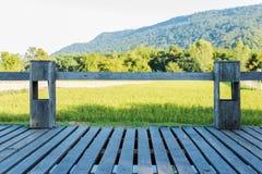 Старый деревянный балкон Стоковое Изображение RF