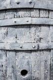 Старый деревянный белый конец-вверх бочонка Стоковая Фотография RF