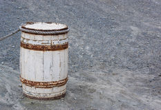 Старый деревянный бочонок, тонна Стоковые Изображения