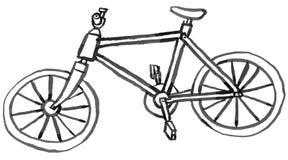 Старый деревянный велосипед Стоковые Фото