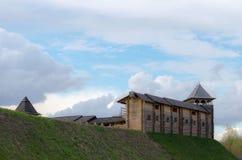 Старый деревянный замок Стоковое Изображение