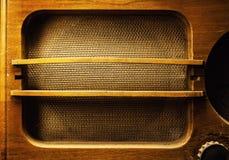 Старый деревянный дизайн радио Стоковое Изображение RF