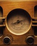 Старый деревянный дизайн радио Стоковые Изображения