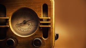 Старый деревянный дизайн радио Стоковая Фотография RF