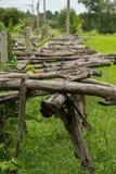 Старый деревянный мост, деревянный, коричневый, деревья Стоковые Изображения RF