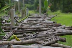 Старый деревянный мост, деревянный, коричневый, деревья Стоковые Фотографии RF