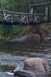 Старый деревянный мост стоковые фотографии rf
