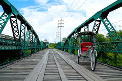 Старый деревянный мост Стоковое Изображение
