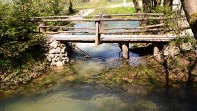 Старый деревянный мост Стоковая Фотография RF