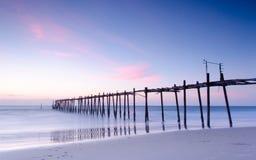 Старый деревянный мост Стоковые Изображения RF