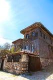 Старый деревянный дом в Nessebar Стоковые Фотографии RF