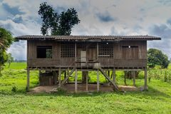 Старый деревянный дом Стоковая Фотография RF