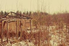 Старый деревянный сарай Стоковые Изображения