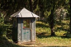 Старый деревянный столб предохранителя Стоковое Изображение