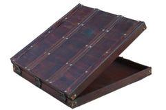 Старый деревянный чемодан Стоковые Фотографии RF
