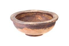 Старый деревянный шар изолированный на белой предпосылке Стоковые Изображения
