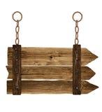 Старый деревянный шильдик стоковое изображение