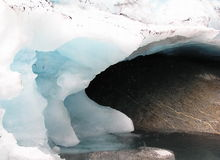 Старый лед Стоковое фото RF