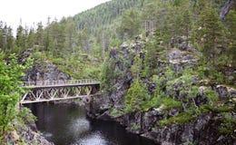 Старый железнодорожный мост Стоковая Фотография RF