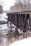 Старый железнодорожный уступ Мичиган моста козл грандиозный Стоковые Фото