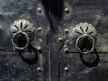 Старый железный строб тахты стоковые изображения rf