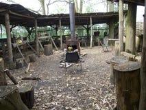 Старый желтый чайник плиты Стоковое Фото