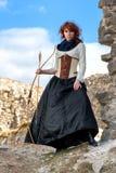 Старый женский лучник Стоковые Фотографии RF