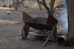 Старый железный трейлер в Украине Стоковое Фото
