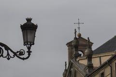 Старый железный фонарный столб Стоковое фото RF