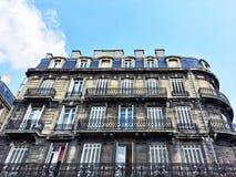 Старый жилой дом в Бордо, Франции Стоковое Изображение RF
