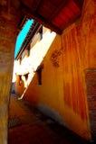 Старый загадочный переходный люк Стоковое Изображение RF