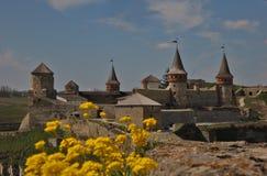 Старый замок внутри в Kamianets-Podilskiy 4 Стоковое Изображение RF