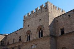 Старый замок в Родосе, Греция Стоковые Изображения