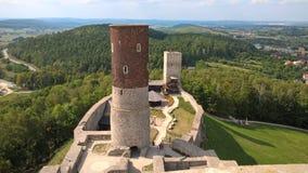 Старый замок в ChÄ™ciny Польша Kielce Стоковая Фотография