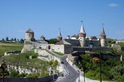 Старый замок в Kamenets-Podolsky Украине Стоковое фото RF