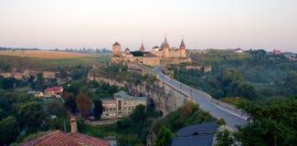Старый замок в Kamenets-Podolsky Украине Стоковое Изображение